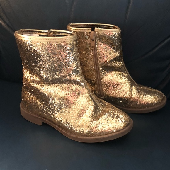 3b3bc933290 Crazy 8 Other - Little girls gold glitter boots! Size 10.
